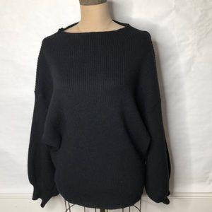 Line + Dot soft texture stripe full sleeve sweater